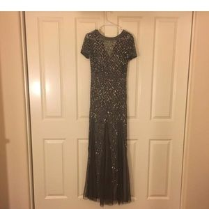 Adrianna Papell gown. Worn once.
